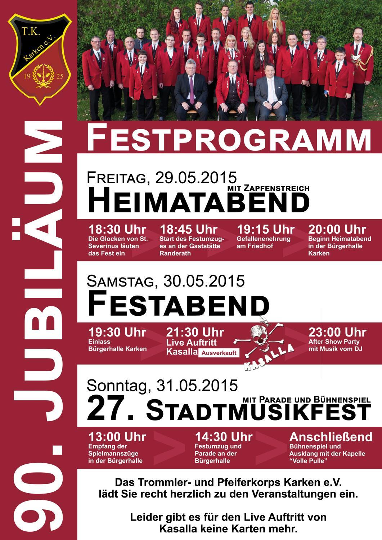 Jubiläum 2015 Plakat